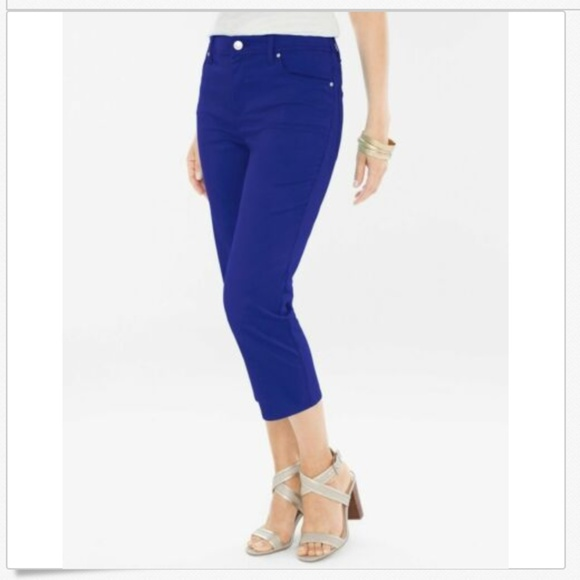 63d6f3863741f7 Chico's Pants | Chicos Nwt Platinum Sateen Slim Fit Capri 0 | Poshmark